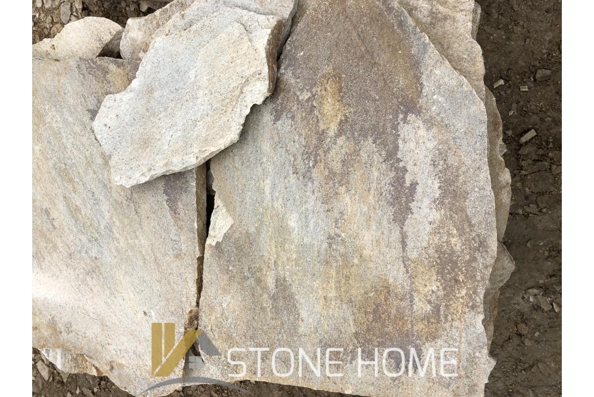 Настилка Неоформена Бежова - естествен камък Гнайс